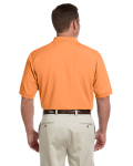 Cantaloupe Men's Pima Pique Short-Sleeve Polo as seen from the back