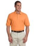 Cantaloupe Men's Pima Pique Short-Sleeve Polo as seen from the front