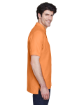 Cantaloupe Men's Pima Pique Short-Sleeve Polo as seen from the sleeveleft