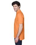 Cantaloupe Men's Pima Pique Short-Sleeve Polo as seen from the sleeveright