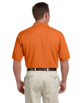 Deep Orange Men's Pima Pique Short-Sleeve Polo as seen from the back