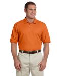 Deep Orange Men's Pima Pique Short-Sleeve Polo as seen from the front