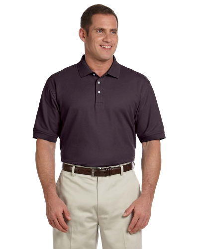 Espresso Men's Pima Pique Short-Sleeve Polo as seen from the front