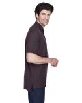 Espresso Men's Pima Pique Short-Sleeve Polo as seen from the sleeveleft