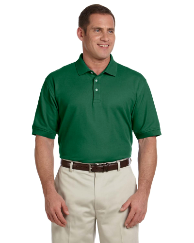 Forest Men's Pima Pique Short-Sleeve Polo as seen from the front