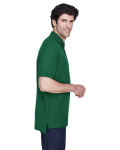 Forest Men's Pima Pique Short-Sleeve Polo as seen from the sleeveleft