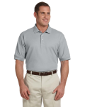 Grey Heather Men's Pima Pique Short-Sleeve Polo as seen from the front