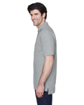 Grey Heather Men's Pima Pique Short-Sleeve Polo as seen from the sleeveright