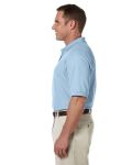 Light Blue Men's Pima Pique Short-Sleeve Polo as seen from the sleeveright