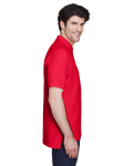 Red Men's Pima Pique Short-Sleeve Polo as seen from the sleeveleft