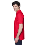 Red Men's Pima Pique Short-Sleeve Polo as seen from the sleeveright