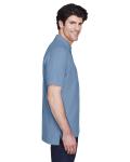 Slate Blue Men's Pima Pique Short-Sleeve Polo as seen from the sleeveleft