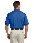 True Royal Men's Pima Pique Short-Sleeve Polo as seen from the back