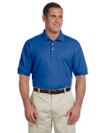 True Royal Men's Pima Pique Short-Sleeve Polo as seen from the front