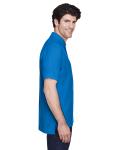 True Royal Men's Pima Pique Short-Sleeve Polo as seen from the sleeveleft
