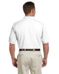 White Men's Pima Pique Short-Sleeve Polo as seen from the back