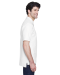 White Men's Pima Pique Short-Sleeve Polo as seen from the sleeveleft