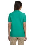 Augusta Green Ladies' Pima Pique Short-Sleeve Y-Collar Polo as seen from the back