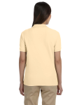 Butter Ladies' Pima Pique Short-Sleeve Y-Collar Polo as seen from the back
