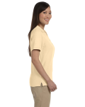 Butter Ladies' Pima Pique Short-Sleeve Y-Collar Polo as seen from the sleeveleft