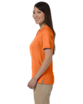 Deep Orange Ladies' Pima Pique Short-Sleeve Y-Collar Polo as seen from the sleeveright