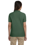 Dill Ladies' Pima Pique Short-Sleeve Y-Collar Polo as seen from the back