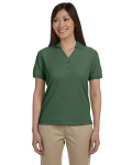 Dill Ladies' Pima Pique Short-Sleeve Y-Collar Polo as seen from the front