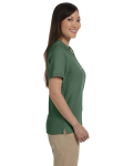 Dill Ladies' Pima Pique Short-Sleeve Y-Collar Polo as seen from the sleeveleft