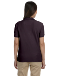 Espresso Ladies' Pima Pique Short-Sleeve Y-Collar Polo as seen from the back