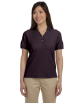 Espresso Ladies' Pima Pique Short-Sleeve Y-Collar Polo as seen from the front