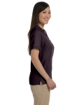 Espresso Ladies' Pima Pique Short-Sleeve Y-Collar Polo as seen from the sleeveleft