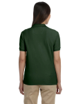 Forest Ladies' Pima Pique Short-Sleeve Y-Collar Polo as seen from the back