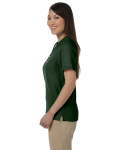 Forest Ladies' Pima Pique Short-Sleeve Y-Collar Polo as seen from the sleeveright