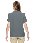Graphite Ladies' Pima Pique Short-Sleeve Y-Collar Polo as seen from the back