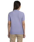 Lavender Ladies' Pima Pique Short-Sleeve Y-Collar Polo as seen from the back