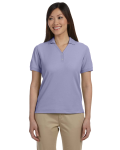 Lavender Ladies' Pima Pique Short-Sleeve Y-Collar Polo as seen from the front