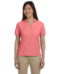Melon Ladies' Pima Pique Short-Sleeve Y-Collar Polo as seen from the front