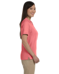 Melon Ladies' Pima Pique Short-Sleeve Y-Collar Polo as seen from the sleeveleft