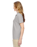Silver Ladies' Pima Pique Short-Sleeve Y-Collar Polo as seen from the sleeveright
