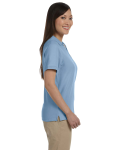Slate Blue Ladies' Pima Pique Short-Sleeve Y-Collar Polo as seen from the sleeveleft