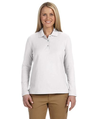Ladies' Pima Piqué Long-Sleeve Polo