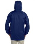 New Navy Men's Waterproof Tech-Shell Torrent Jacket as seen from the back