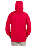 Red Men's Waterproof Tech-Shell Torrent Jacket as seen from the back