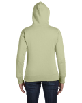 Celery Ladies' 9 oz. Organic/Recycled Full-Zip Hood as seen from the back