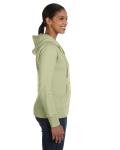 Celery Ladies' 9 oz. Organic/Recycled Full-Zip Hood as seen from the sleeveleft
