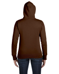 Earth Ladies' 9 oz. Organic/Recycled Full-Zip Hood as seen from the back