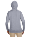 Athletic Grey Ladies' 7 oz. Organic/Recycled Heathered Fleece Full-Zip Hood as seen from the back