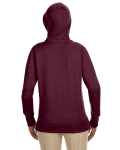 Berry Ladies' 7 oz. Organic/Recycled Heathered Fleece Full-Zip Hood as seen from the back