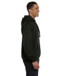 Black 9 oz. Organic/Recycled Pullover Hood as seen from the sleeveleft
