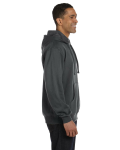 Charcoal 9 oz. Organic/Recycled Pullover Hood as seen from the sleeveleft